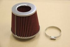 Universal High Performance Red 3'' Inlet Cone Dry Flow Air Filter 3' Air Filter