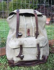 Vintage 1964 Swiss Army Military Backpack Rucksack Good Condition Salt & Pepper