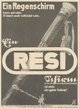 Y6347 Regenschirm RESI - Pubblicità d'epoca - 1925 Old advertising