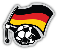 "Germany Flag Football Ball Car Bumper Sticker Decal 5"" x 5"""