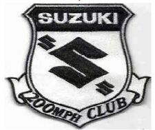 Iron On/ Sew On Embroidered Patch Badge Suzuki 200mph Club Emblem logo