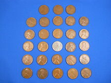 "Lincoln Wheat Cent Penny San Fran ""S"" Mint Set 1916S-1955S Collection 28 Coins!"