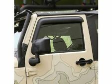 JEEP WRANGLER JK 2007 - 2017 FRONT WINDOW VISORS RAIN DEFLECTORS IN MATTE BLACK