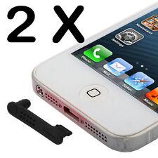 2x Staubschutz Kappe Stöpsel für Iphone 5/5S/5CLightning + Audio Schutz Wasser