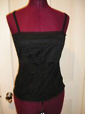 NWT INTIMISSIMI For Victoria's Secret S Black Mesh & Lace Bodice Cami Tank Top