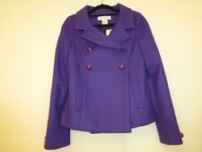 PAUL & JOE PURPLE WOOL MIX JACKET SIZE 38 UK 10