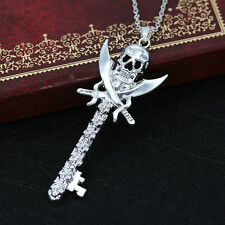 Newfashioned Unisex Cool Silver Pirate Skull Key Pendant Jewelry Hot Sale