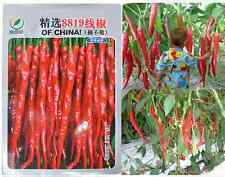 500pcs Super Giant Long Chili Seed Red Hot Pepper Organic Seeds Planting Eatable