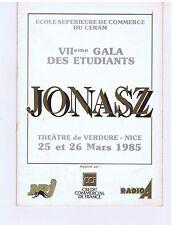 MICHEL JONASZ PROGRAMME NICE THEATRE DE VERDURE 1985