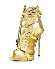 AuthNIB Giuseppe Zanotti S/S 2016 Shooting Flame Fire Wing Cruel Sandals Gold 35