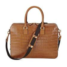 Aspinal of London Small Mount Street Bag in Vintage Tan Croc RRP £650.00