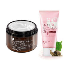 [MIZON] All In One Snail Cream 120ml [Super Size] + Snail Gel Cream 45ml