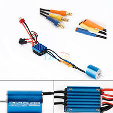 2430 7200KV 4P Sensorless Brushless Motor W/ 25A Brushless ESC for 1/18 Car DIY