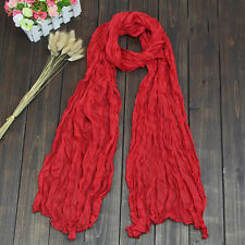 New Fashion Women Lady Plain Long Neck Scarf Scarves Wrap Soft Voile Stole Shawl