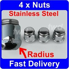 4 x RADIUS ALLOY WHEEL NUTS FOR HONDA CIVIC (1983-2011) LUG BOLTS M12X1.5 [3J]