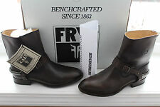 FRYE LINDSAY SPUR SHORT DARK BROWN SMOOTH FULL GRAIN LEATHER #7us $338
