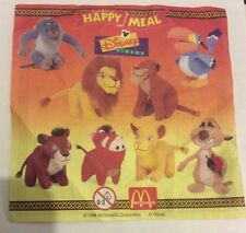 McDonalds Happy Meal Paper Insert - For Year 1998 Lion King