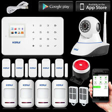 IOS/Android APP Control KERUI G18 UI Menu LCD GSM SMS Home Intruder Alarm System