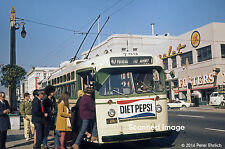 Original Photograph: Muni Marmon trolleybus 789 at Van Ness/Geary OB (5 x 7)