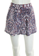 Rebecca Taylor Multi Colored Cotton Zipper Hip Above Knee Length Shorts Size 4