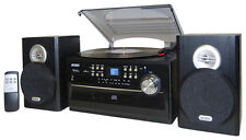 4W CD Stereo System with Cassette, Turntable and AM/FM Radio