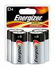ENERGIZER MAX D4 ALKALINE BATTERIES PLUS POWERSEAL - 4-PACK D-CELL