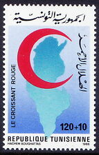 Tunesia 1986 MNH 1v, Red Cross, Red Cresent, Map  - Rs93