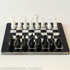 Scacchiera con Intarsi in Marmo Marble Inlay Chessboard Chess Game Box 40x40cm