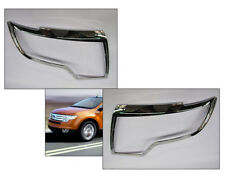3M 2PCS Chrome Front Headlight Lamp Trim Bezel OE [Fits: Ford Edge 2007-2010]
