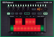 ROLAND TB-3 TOUCH BASS LINE SYNTHESIZER & POWER SUPPLY TB-303