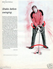 1970 Print Ad of Golden Bear Enterprises w Jack Nicklaus shake before swinging
