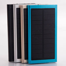 Portable 20000mAh Dual USB Mobile Battery Charger Solar Power Bank for iphone 7