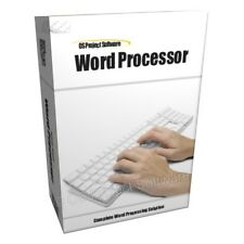 WORD PROCESSOR PROCESSING SOFTWARE FOR WINDOWS XP VISTA 7 MAC
