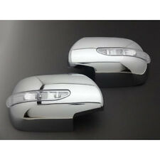 TOYOTA LAND CRUISER PRADO 120 FJ12002-09 LED CHROME DOOR MIRROR COVERS TRIM JDM
