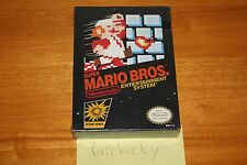 Super Mario Bros. (Nintendo NES) NEW SEALED H-SEAM, RARE BLACK BOX CLASSIC!