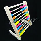 Wooden Wood Beads Abacus Counting Number Maths Educational Childrens Toy Sales J