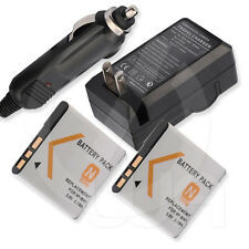 2 Battery+Charger for Sony Cyber-Shot DSC-T99DC DSC-T99P DSC-T99S Digital Camera