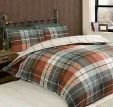 Lomond King Duvet Set 100% Brushed Cotton Flanelette Terracotta CHEAPEST ON EBAY