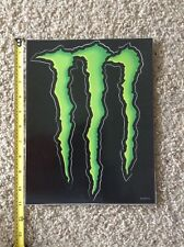 "Monster Energy Logo Sticker Decal Sponsor Sheet Kit 11"" By 8.5"" HUGE LARGE"