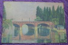 Altes Gemälde Straßburg Fegersheim Henri Ebel um 1910