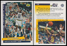 NBA UPPER DECK 1993/94 - Karl Malone # 178 Jazz - Ita/Eng SPECIAL DELIVERY DUNK