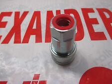 "Hydraulic Hose Adaptor Connector Female Carrier Half 3/8"" BSP Hoses Coupling"