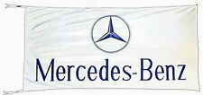 Large Mercedes Benz flag (white lscape) 1500mm x 740mm      (of)