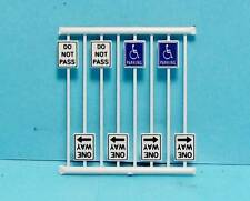 N Scale-Tichy Train Group-Scenery Accessories-8 Pcs. Misc. Road Signs-6N