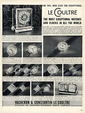 1953 Le Coultre Watches & Clock 16 Styles Great detailed Documentation PRINT AD