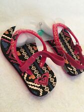 Roxy Multi Printed Infant Girl Slip On Sandals Shoes 5