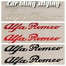 2x Alfa Romeo - Vinyl Car Decals Stickers GTV 155 145 High Temp Red Black Silver