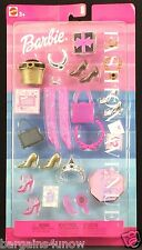 Barbie Fashion Avenue Accessories Glamour Shoes Purses Tiera Jewelry NRFB