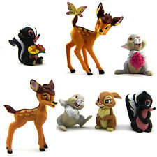 Hot 7Pcs Disney Bambi Thumper Flower Bambi Figure For Baby Doll Figure Gift M205