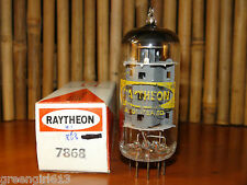 Raytheon 7868 Vacuum Tube  Very Strong Results  12,000  µmhos 82 mA